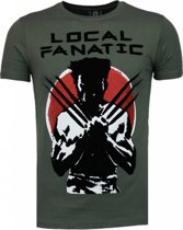 Local Fanatic Wolverine - Flockprint T-shirt - Groen - Maten: XXL