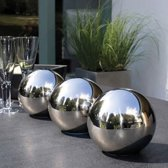 RVS ornament bol klein - sphere stainless steel M - heksenbol