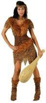 Holbewoonster verkleed kostuum/set dames- carnavalskleding - voordelig geprijsd XL (42-44)