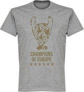 Liverpool Champions League 2019 Trophy T-Shirt - Grijs - XXL
