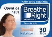 Breathe Right - 30 st - Neusstrips - Normale huid - Antisnurkmiddel
