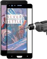 Let op type!! ENKAY Hat-Prins OnePlus 3 & 3T 0 26 mm 9H hardheid 2.5D Explosieveilig volledig scherm gebogen gehard glas kleur scherm Film(Black)