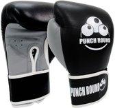 Punch Round ELITE PRO Bokshandschoenen Zwart Grijs 8 OZ Punch Round Bokshandschoenen