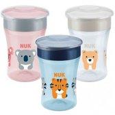 NUK Magic Cup 230ml | Drinkbeker | Gemakkelijk leren drinken vanaf 8 maanden | Vaatwasserbestendig | Grijs