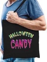 Halloween -  Halloween candy snoeptas zwart voor heren - horror snoepzak/candyzak
