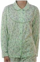 Lunatex tricot pyjama-JASJE doorknoop 4097  - M  - Blauw