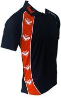 KWD Poloshirt Pronto korte mouw - Zwart/oranje - Maat S