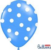 Ballonnen blauw met dots 50 stuks