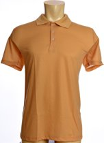 Sunselect zondoorlatende heren polo - Camel - Maat M