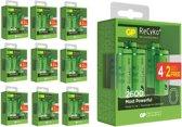 60 Stuks (10 Blisters a 6st) - 40+20 GRATIS GP Recyko+ AA/HR06 2600mah 1.2V NiMH Oplaadbare Batterijen
