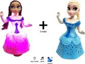 Snow Girl Prinsesjes -  2 stuks poppen speelgoed- (danst en zingt) incl. batterijen