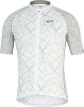 GORE WEAR C3 Fietsshirt korte mouwen Heren, white/light grey Maat M