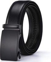 100% Zacht Leren Koeien Riem Grote maat 130cm | Zwart | Koeienhuid | Leder | Volnerf | Leather | Kalfs  | Big Size |