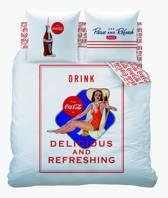 Coca Cola Suzanna - Dekbedovertrek - Eenpersoons - 140x200cm - Wit