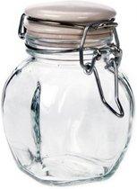 Glazen pot met clipdop - 12,5cl (12 stuks)