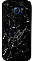 Samsung Galaxy S6 Edge hoesje - Marmer zwart