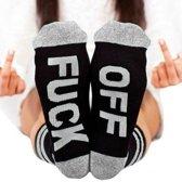 Fuck off sokken grijs