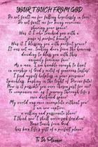 Your Touch From God: 6x9 Lilac Romantic Poem To Do Planner With 120 Checklist Pages, Wedding Planning Notebook, Romantic Gift For Her, Girl