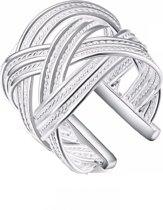 Ring- Verzilverd- Verstelbaar- Wave