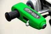 Grip-Lock slot voor motorfietsen en scooters groen