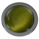Quiges - Munthouder Munt 25mm Cat's Eye Groen Zilverkleurig - EPRS055