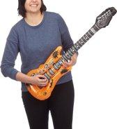 relaxdays opblaas gitaar, opblaasbaar, rock gitaar,  hard rock, verjaardagsfeest