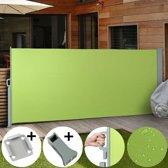 Uittrekbaar zonne - windscherm - 180 x 300 cm - Limoen Groen - Vloerbeugel