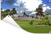 Het Nationaal park Tulum onder een prachtige wolkenhemel Tuinposter 60x40 cm - klein - Tuindoek / Buitencanvas / Schilderijen voor buiten (tuin decoratie)
