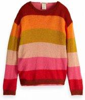Scotch Rbelle Meisjes truien & vesten Scotch Rbelle 2-in-1 style Yarn dyed pull with inn multi 164
