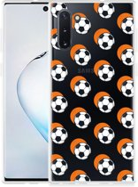 Galaxy Note 10 Hoesje Soccer Ball Orange Shadow