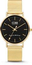 CO88 Collection Watches 8CW 10007 Horloge - Mesh Band - Ø 36 mm - Goudkleurig