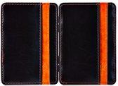 Creditcardhouder, portemonnee Zwart Oranje, Magic Money clip