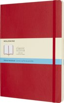 Moleskine classic notitieboek rood - Large - Gestippeld - Soft cover