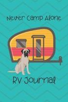 Journal: RV Camping Travel Journal Mastiff Dog Memory Book RVing Log Book Keepsake Diary Road Trip Planner Tracker Campground V