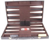 Longfield Games Backgammon Set De Luxe 18 Inch Zwart