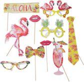 Photo Booth Props - Flamingo Fun - 10 stuks