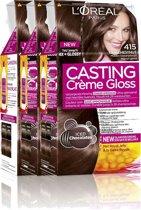 L'Oréal Paris Casting Crème Gloss 415 - Kastanjebruin - Haarverf