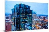 Het verlichte Minneapolis tijdens de avond Aluminium 180x120 cm - Foto print op Aluminium (metaal wanddecoratie) XXL / Groot formaat!