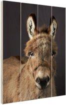 Portret ezel Hout 60x80 cm - Foto print op Hout (Wanddecoratie)
