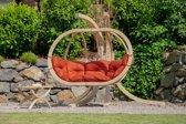 Amazonas Globo Chair Royal 2 persoons - Terracotta Bruine kussens + Luxe Houten Standaard
