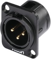 HICON XLR mounting plug 3pin HI-X3DM-G