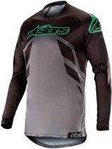 Alpinestars Crossshirt Racer Tech Compass Black/Mid Gray/Teal-M