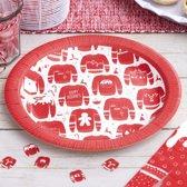 Cosy Christmas – Borden Rood Witte Kersttrui (8 stuks)