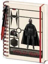 Hole In The Wall Star Wars: The Rise of Skwalker Airfix Kylo A5 Notebook