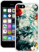 Case Creatives Telefoonhoesje Kerstboom - iPhone 5 5s SE  Wit - Handgemaakt