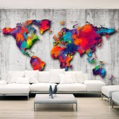 Fotobehang -Gekleurde wereld