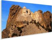 De Amerikaanse Mount Rushmore in South Dakota tijdens een zonnige dag Plexiglas 160x80 cm - Foto print op Glas (Plexiglas wanddecoratie)