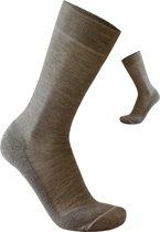 2-Pack Nette Dunne Sokken met Merino Wol S13 - Unisex - Beige - Maat 39-42