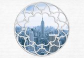 Fotobehang New York City Skyline Window | XXL - 312cm x 219cm | 130g/m2 Vlies