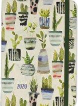 Agenda aquarel planten 2019-2020 - 16 maanden
